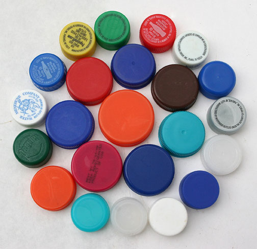 Caps lids recycling - Plastic bottles with caps ...